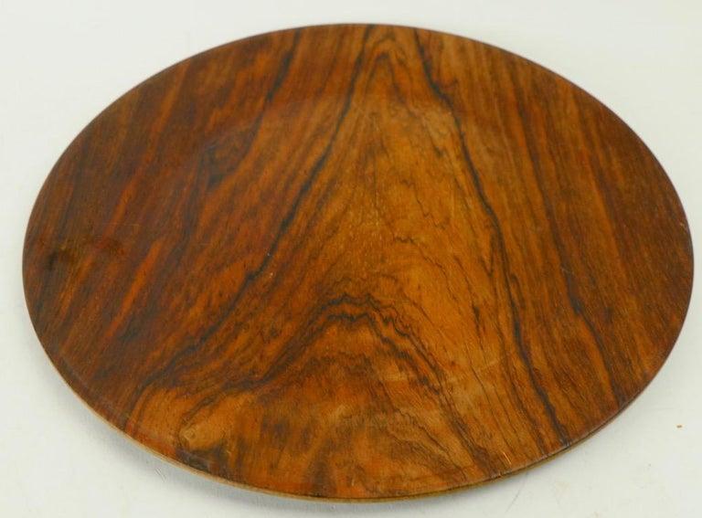 Scandinavian Modern Rosewood Plate by Illums Bolighus For Sale