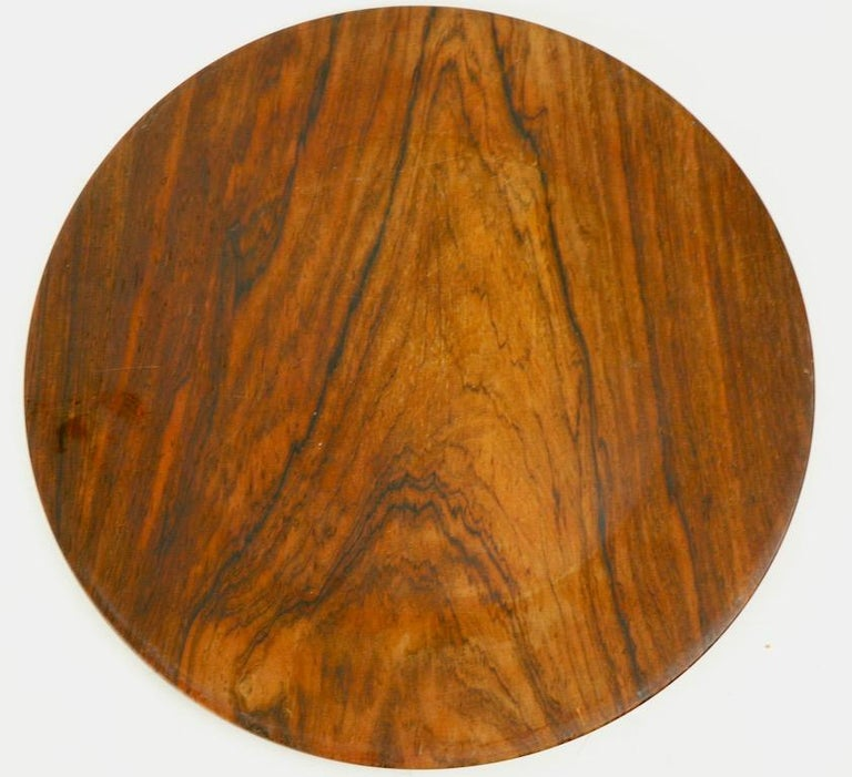 Danish Rosewood Plate by Illums Bolighus For Sale