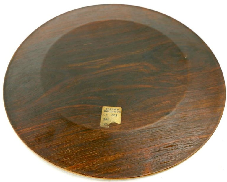 Rosewood Plate by Illums Bolighus In Good Condition For Sale In New York, NY