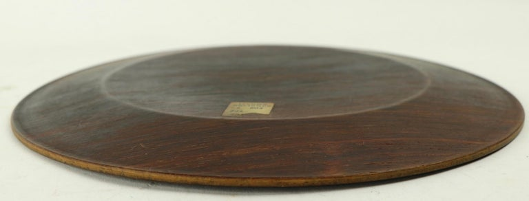 Rosewood Plate by Illums Bolighus For Sale 1
