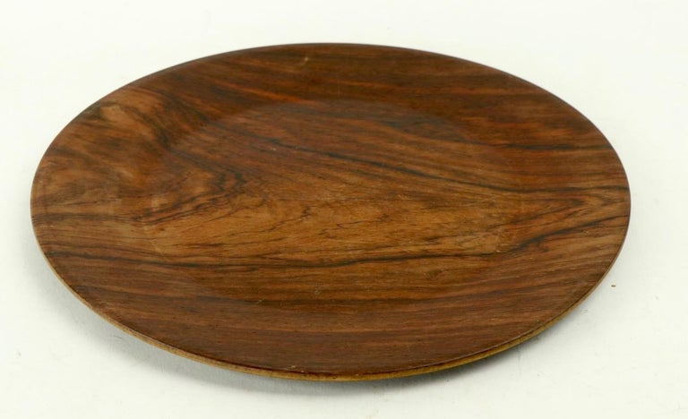 Rosewood Plate by Illums Bolighus For Sale 2
