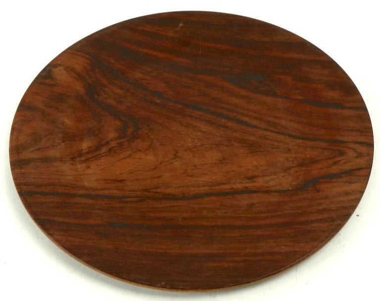 Rosewood Plate by Illums Bolighus For Sale 3