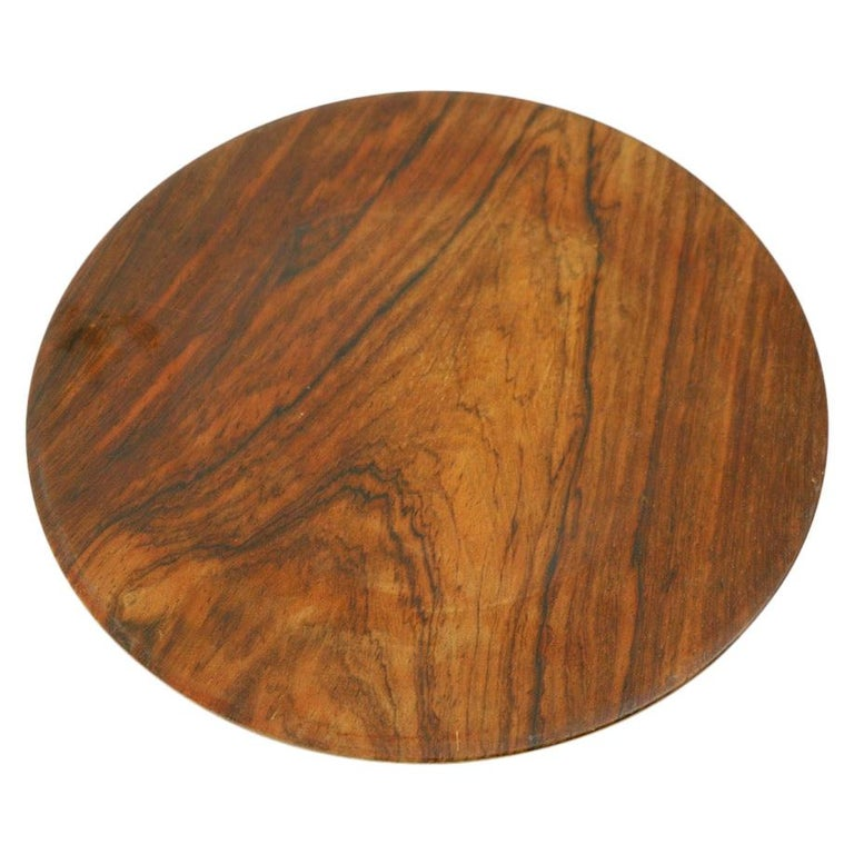Rosewood Plate by Illums Bolighus For Sale