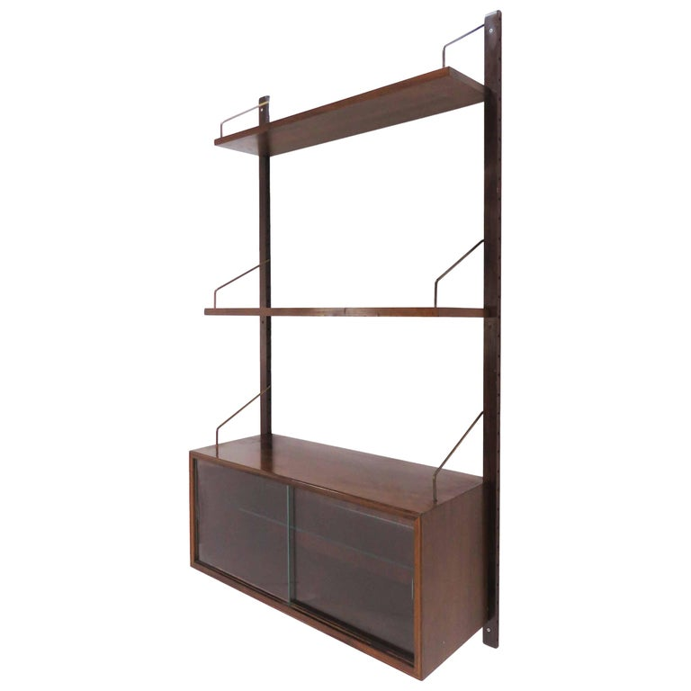 """Rosewood Poul Cadovius """"Cado"""" Danish Wall-Mounted Shelving Unit, circa 1960s For Sale"""