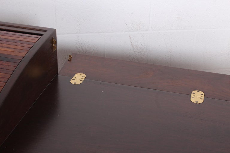 Rosewood Roll Top Desk by Edward Wormley for Dunbar For Sale 5