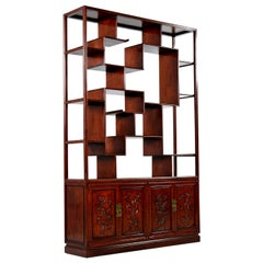 Chinoiserie Shelves and Wall Cabinets