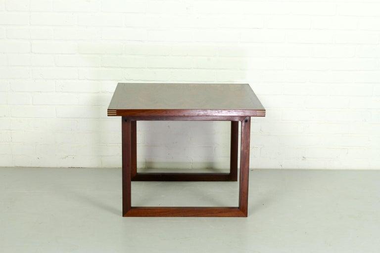 Mid-Century Modern Rosewood Rud Thygesen for Heltborg Møbler Danish Modern Coffee Table, 1960s  For Sale