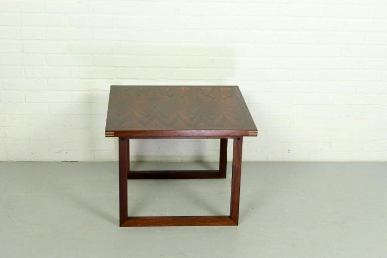 Rosewood Rud Thygesen for Heltborg Møbler Danish Modern Coffee Table, 1960s  In Good Condition For Sale In Appeltern, Gelderland