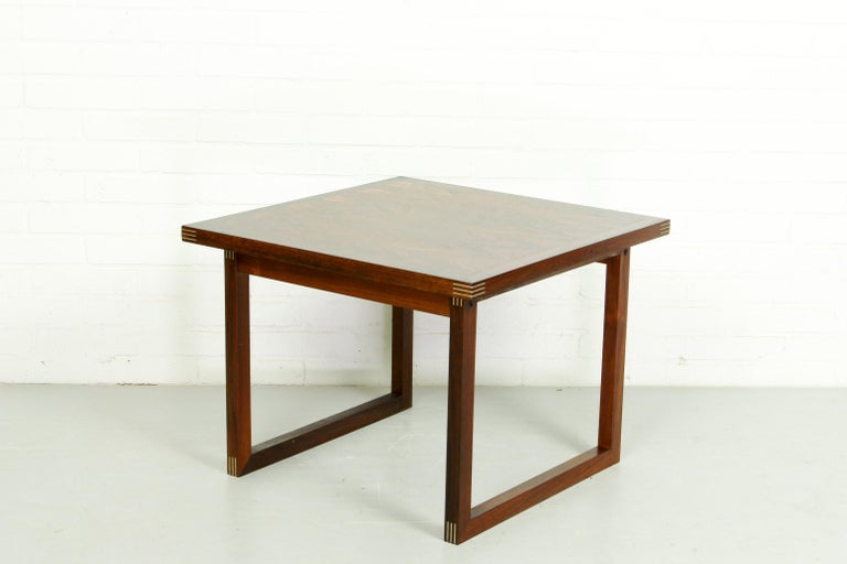 20th Century Rosewood Rud Thygesen for Heltborg Møbler Danish Modern Coffee Table, 1960s  For Sale