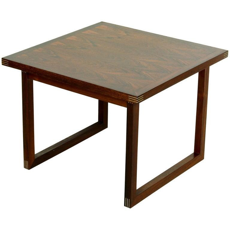 Rosewood Rud Thygesen for Heltborg Møbler Danish Modern Coffee Table, 1960s  For Sale
