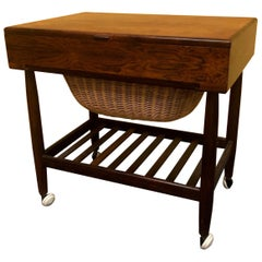 Rosewood Sewing Table by Ejvind Johansson