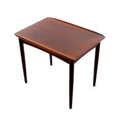 Rosewood Side Table, 1950s, Scandinavian Modern Rosewood Side or Lamp Table