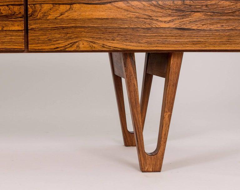 Rosewood sideboard by Ib Kofod Larsen For Sale 1