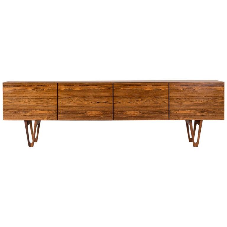 Rosewood sideboard by Ib Kofod Larsen For Sale