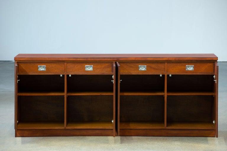 Rosewood Sideboard Minimal Design, Denmark, 1960s For Sale 6