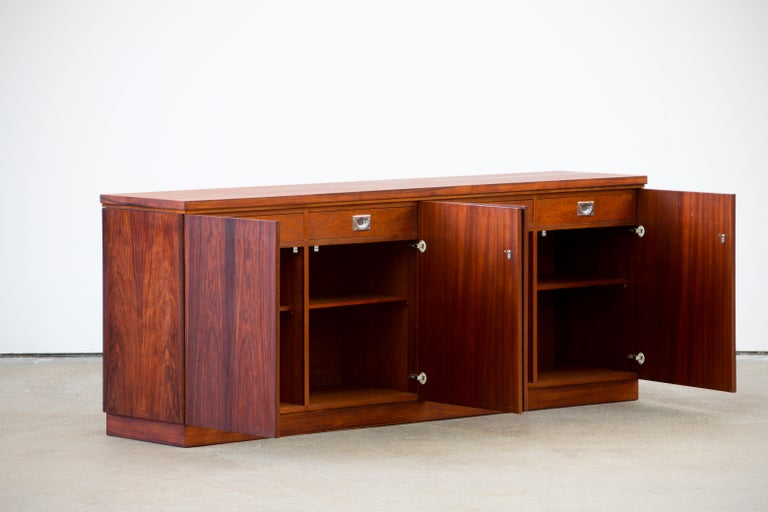 Danish Rosewood Sideboard Minimal Design, Denmark, 1960s For Sale