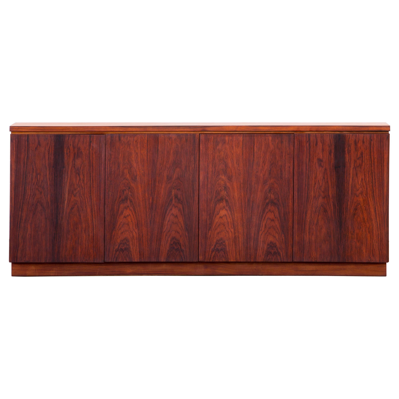 Rosewood Sideboard Minimal Design, Denmark, 1960s