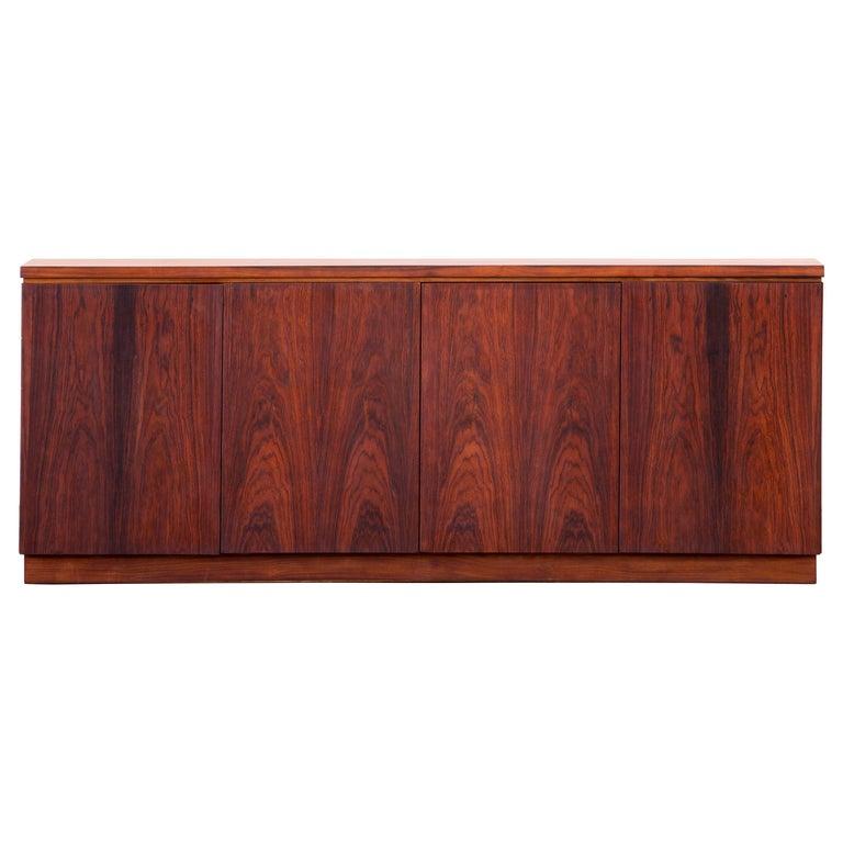 Rosewood Sideboard Minimal Design, Denmark, 1960s For Sale