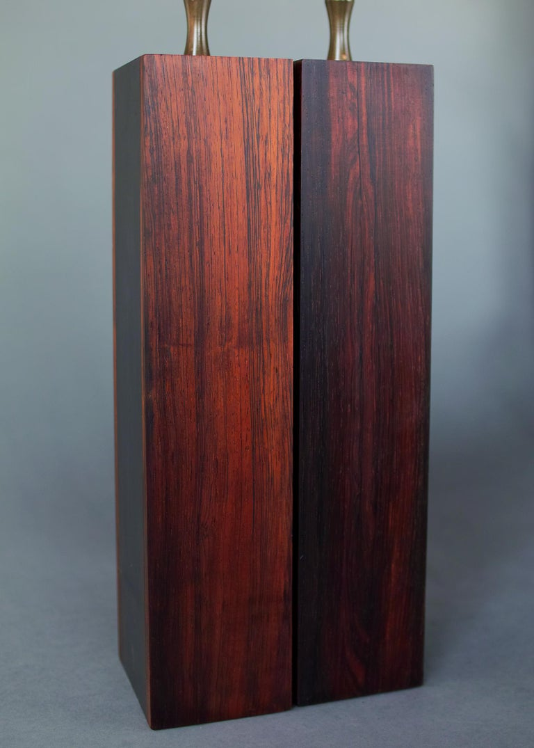Rosewood and Slate Lamps by Harpswell House For Sale 4