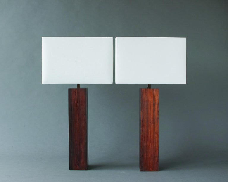 Rosewood and Slate Lamps by Harpswell House For Sale 6