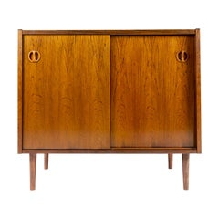 Rosewood Slide Door Cabinet, Made in Denmark, 1960s