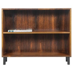 Rosewood Small Bookcases with Metal Black Legs, Made in Denmark, 1960s