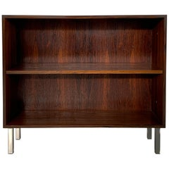 Rosewood Small Bookcases with Steel Legs, Made in Denmark, 1960s