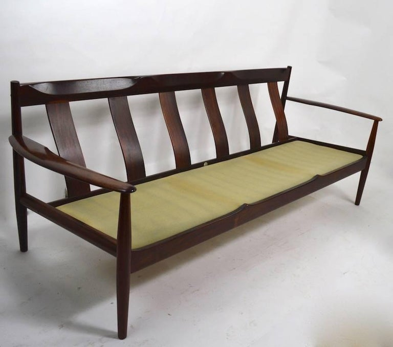 Scandinavian Modern Rosewood Sofa by Grete Jalk for France and Son For Sale