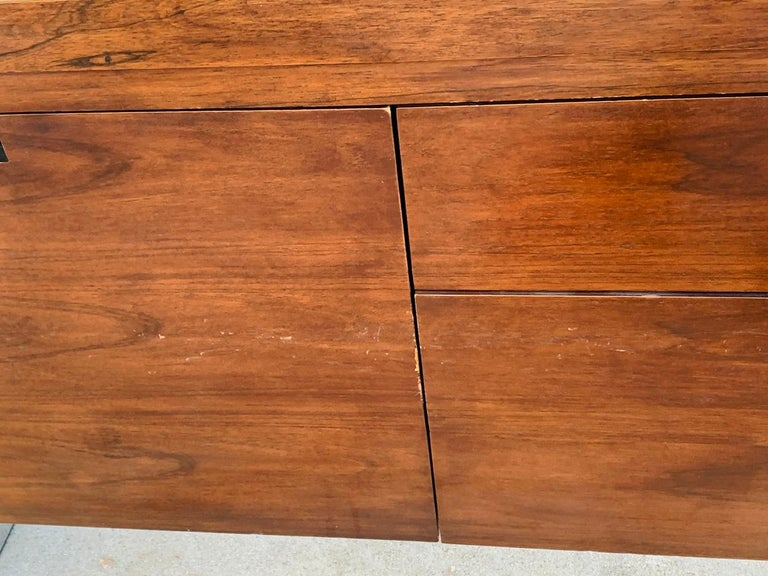 Rosewood & Stainless Credenza by Roger Sprunger/Dunbar For Sale 5