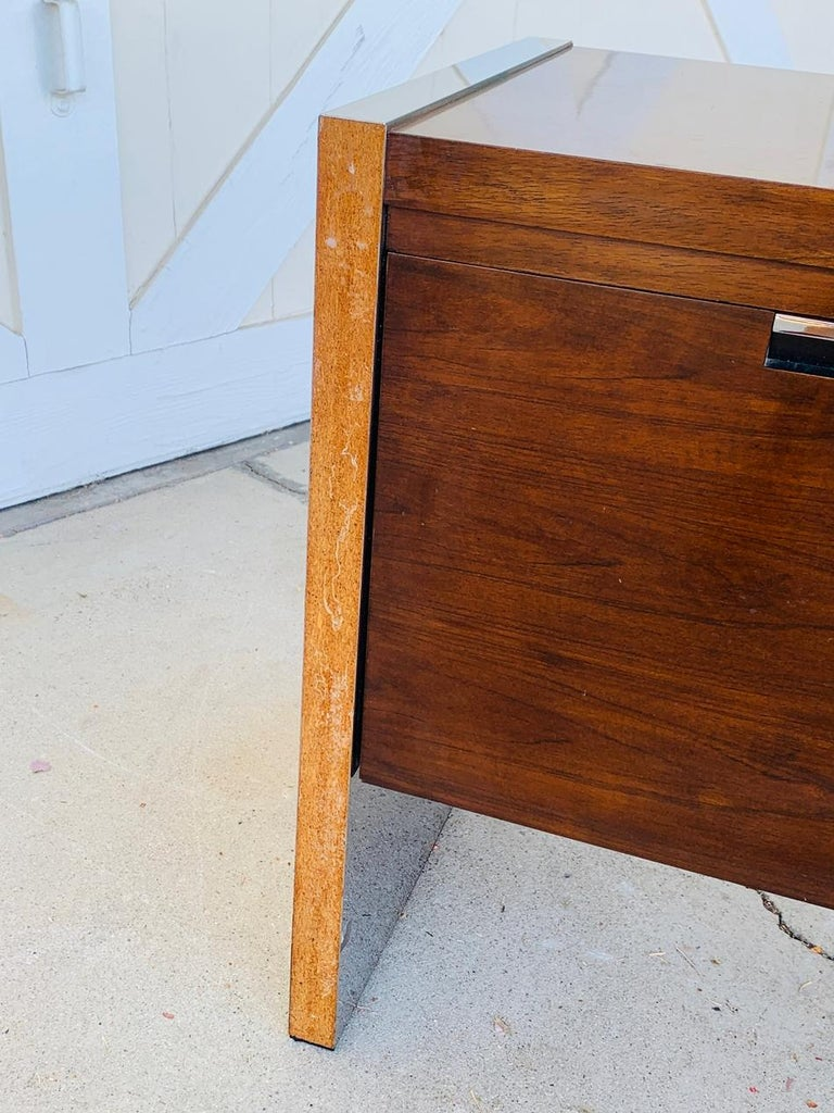 Rosewood & Stainless Credenza by Roger Sprunger/Dunbar For Sale 8