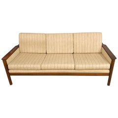 Rosewood Sven Ivar Dysthe Reupholstered 3-Seat Sofa and a Lounge Chair, 1950s