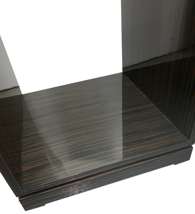 Lacquered Rosewood Swivel Pedestal by Juan Montoya For Sale