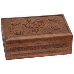 Rosewood Tea Caddy Hand Carved