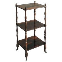 Rosewood Three-Tiered Whatnot or Étagère