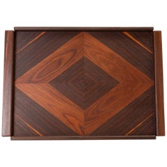 Rosewood Tray with Diamond Motif by Don Shoemaker for Señal