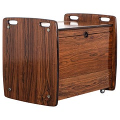 Rosewood Trolley, by Sergio Rodrigues, 1965, Brazilian Mid-Century Modern