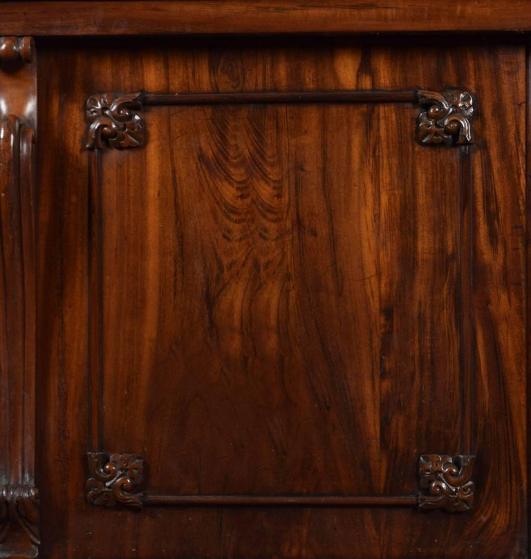 English Rosewood Two-Door Library Bookcase For Sale