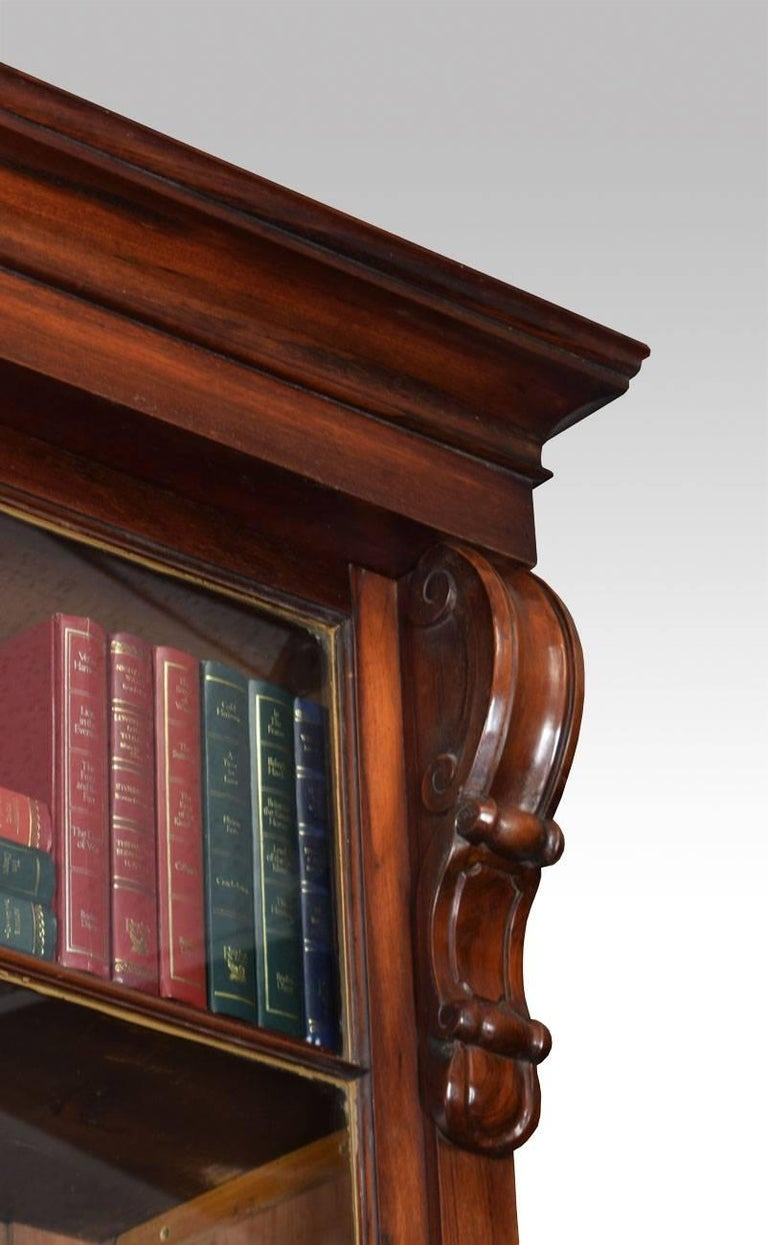 Rosewood Two-Door Library Bookcase In Good Condition For Sale In Cheshire, GB