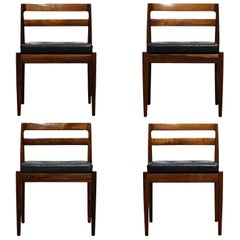 "Rosewood ""Universe"" Chairs by Kai Kristiansen for Magnus Olesen, Signed Set of 4"