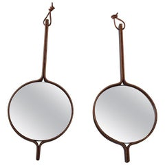 Rosewood Vanity Mirrors by Hans Agne Jakobsson, Markaryd 1950s