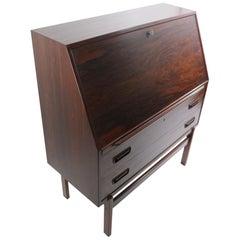 Rosewood Vi-Ma Mobler Drop Front Danish Modern Desk
