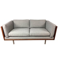 Rosewood Wrapped Low Back Loveseat by Komfort