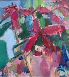 Rosie Copeland, Poinsettia, Still Life Art, Contemporary Art, Art Online
