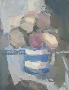 Rosie Copeland, Still life with Cornishware Jug, Original Still Life Painting