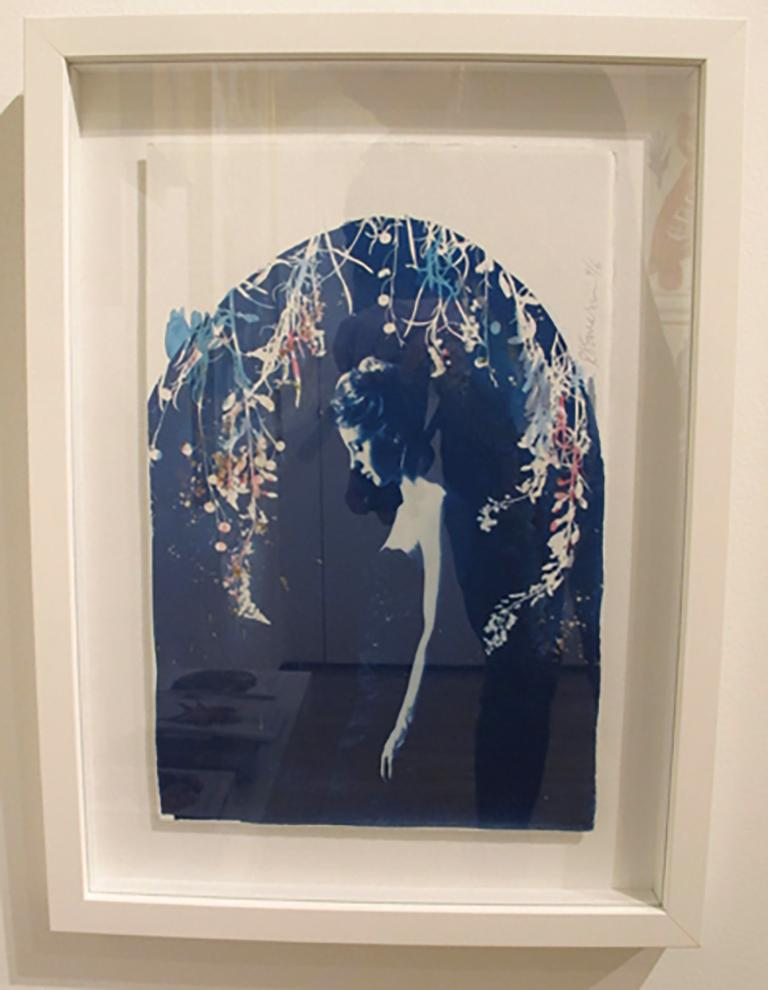 Lyra, by Rosie Emerson, Hand-painted cyanotype on paper, white box frame For Sale 1