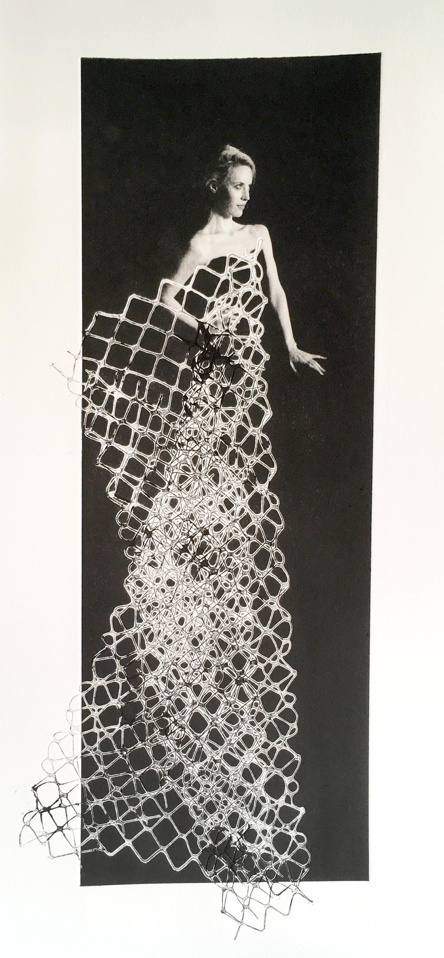 Moda by Rosie Emerson, Black and white analogue photography, glam female figure