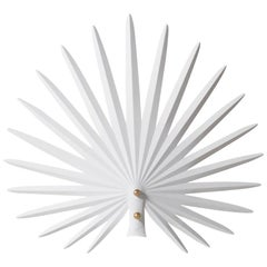 "Rosie Li ""Inez"" Sculptural Wall Light in Chalk White and Brass"