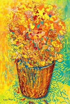 Rosie Phipps, Celebration of Life, Bright Contemporary Art, Floral Still Life