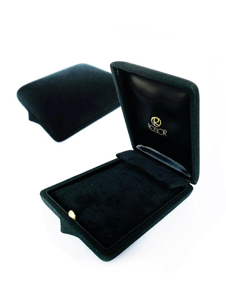 Women's or Men's Rosior Contemporary White Gold Diamond Dangle Earrings For Sale