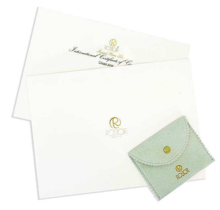 Rosior Contemporary White Gold Diamond Dangle Earrings For Sale 1